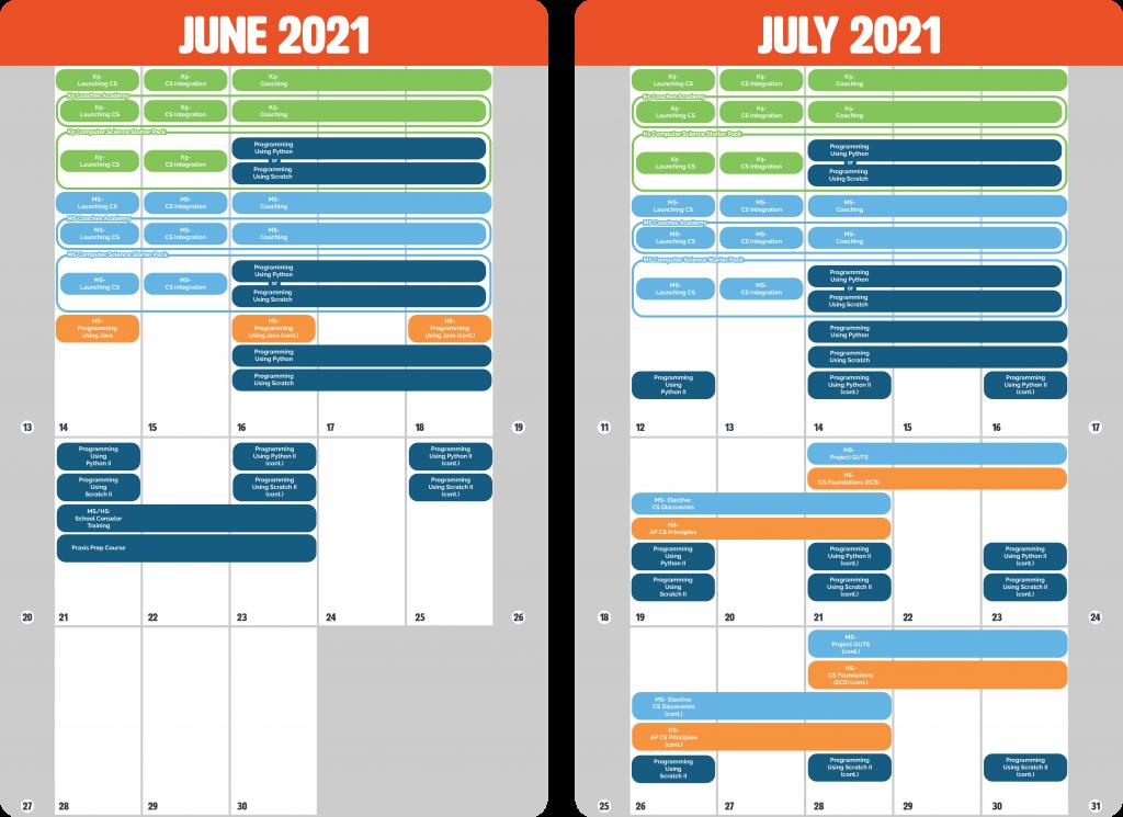 Summer Calendar Overview