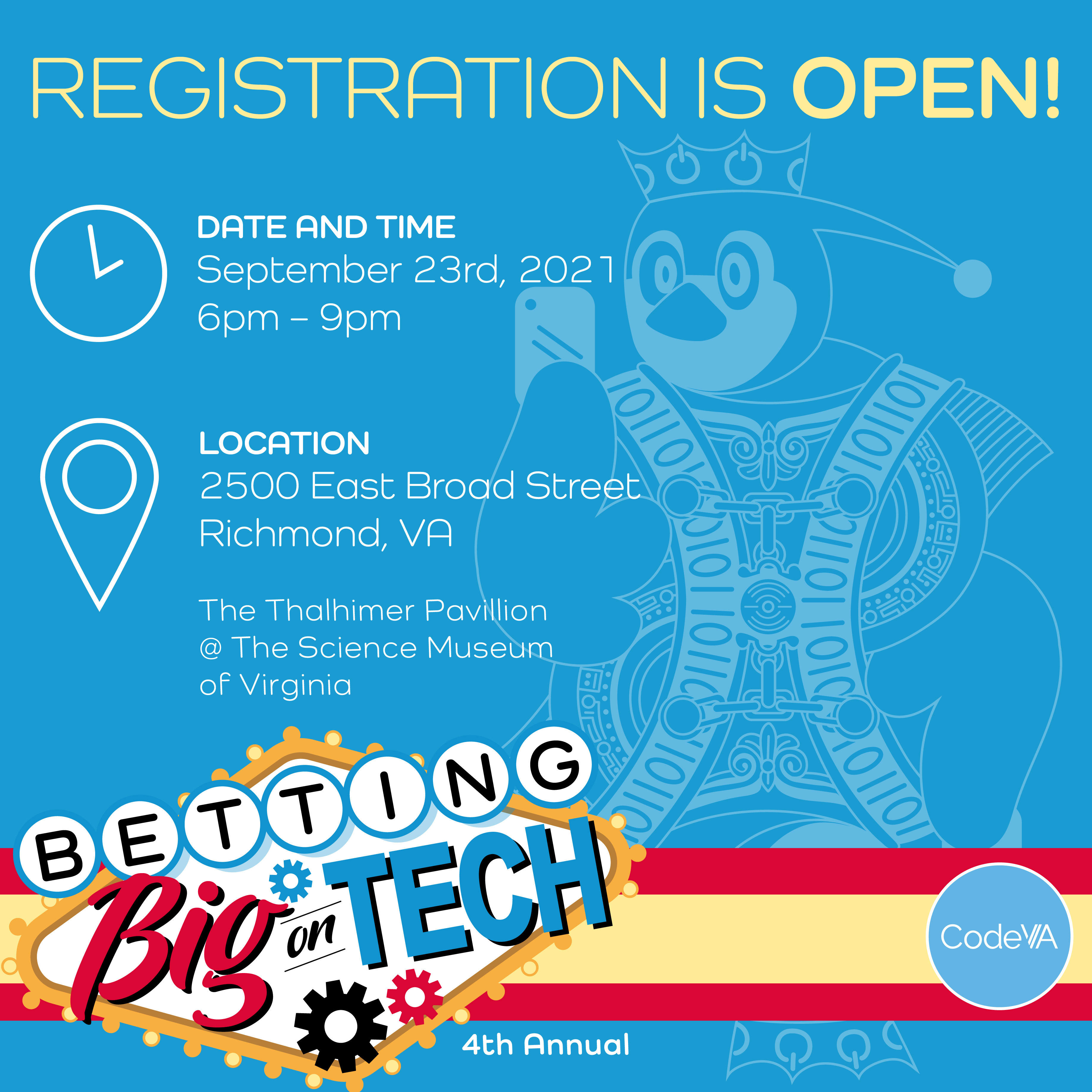 Betting Big On Tech, Save the Date